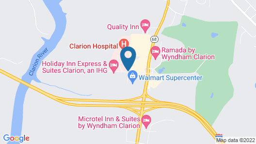 Hampton Inn Clarion Map