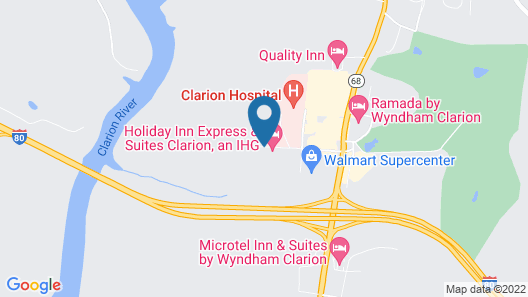 Holiday Inn Express & Suites Clarion, an IHG Hotel Map