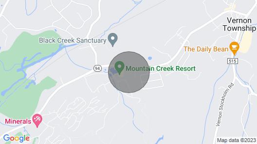 Bear Tracks - #342 - Mountain Front-skiing-at the Mountain Creek Ski Resort Map