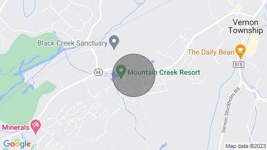 Comfy Studio at the Appalachian building - Mountain Creek Resort, Vernon, NJ Map
