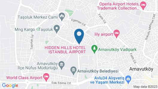 Hidden Hills Istanbul Airport Hotel Map