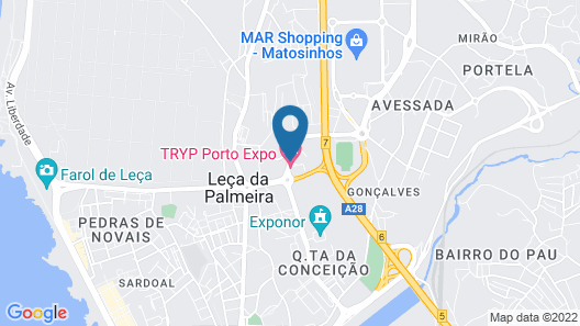 TRYP Porto Expo Hotel Map