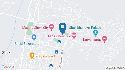 Sheki Saray Hotel Map
