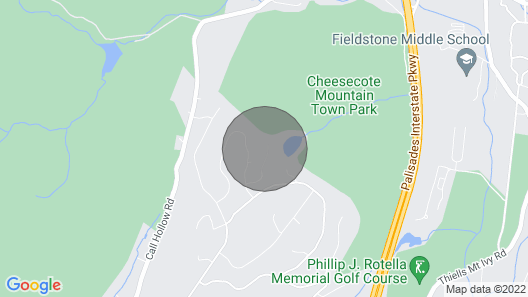 Private Home In The Hills of Pomona Map