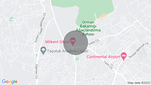 Istanbul Airport 5-10 min Map