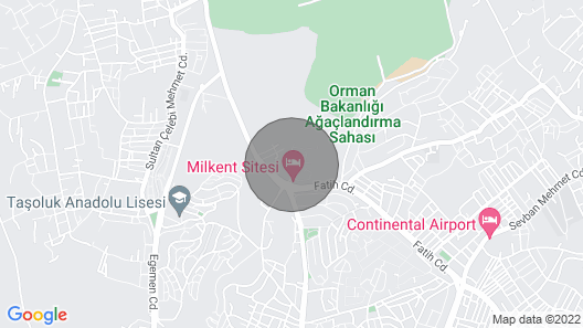 Istanbul NEW Airport 5-10 Minutes Only Map