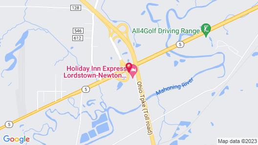 Holiday Inn Express Newton Falls, an IHG Hotel Map