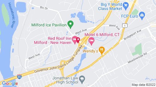 Red Roof Inn Milford - New Haven Map
