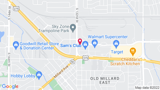 Candlewood Suites Omaha - Millard Area Map