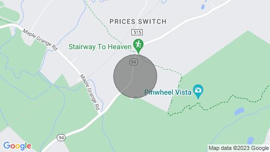 Tentrr Signature Site - Appalachian Trail Hilltop Hideaway - Coleman Cooking Sit Map