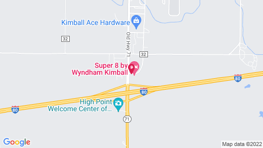 Super 8 by Wyndham Kimball Map