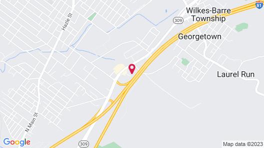 Comfort Inn & Suites Wilkes Barre - Arena Map
