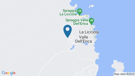 Luxury Villas Valle dell'Erica Map
