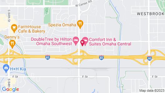 American Best Value Inn Omaha Map