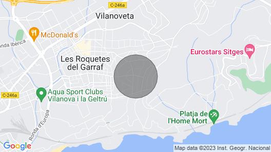 Sant Pere de Ribes Villa, Sleeps 10 Map
