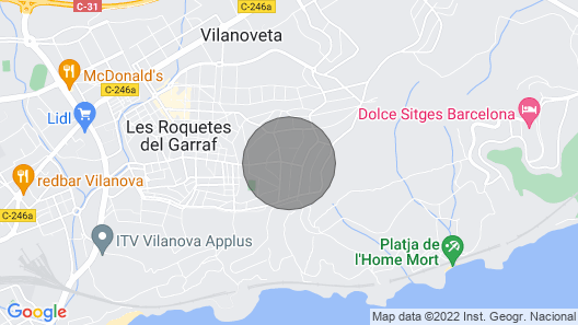 Villa Carmen Heated Pool, 5 Min. Sitges Map