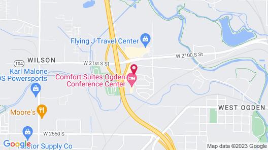 WoodSpring Suites Ogden Map