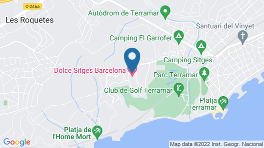 Dolce by Wyndham Sitges Barcelona Map