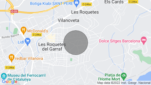 Charming house for 10 people in Sant Pere de Ribes Map