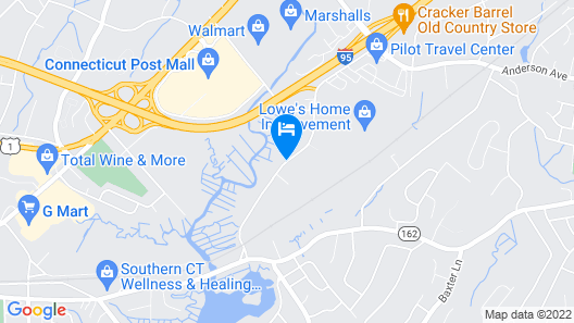 Hyatt Place Milford / New Haven Map