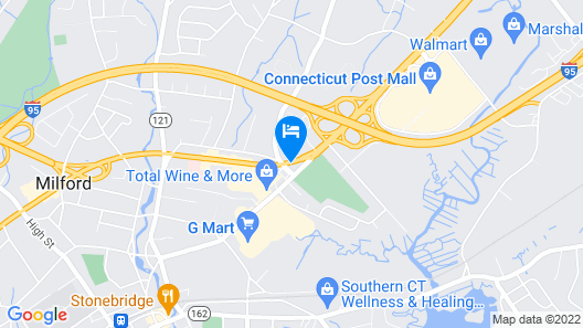 Super 8 by Wyndham Milford/New Haven Map