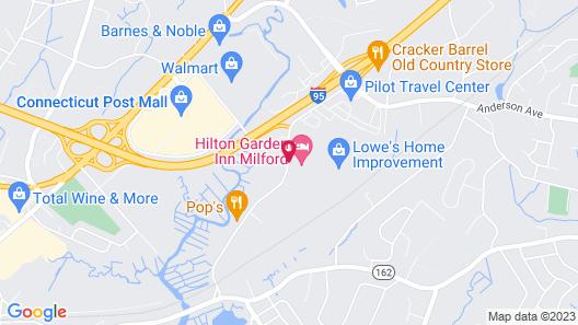 Hilton Garden Inn Milford Map