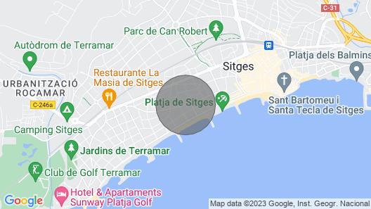 Villa Sitges La Calma, 10 min drive from the beach! Large garden, Pool XL Map