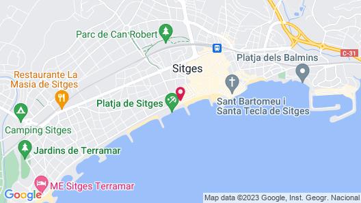 Kalma Sitges Hotel Map