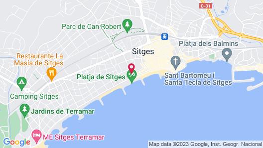 Mediterráneo Sitges Map