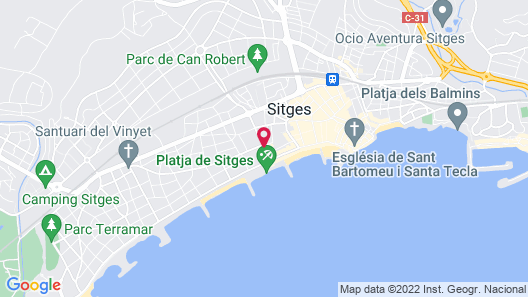 Hotel MiM Sitges Map