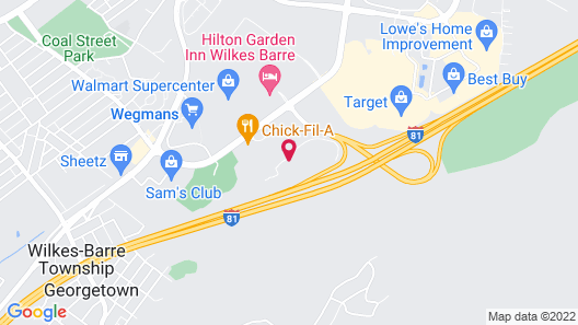 Motel 6 Wilkes Barre, PA - Arena Map