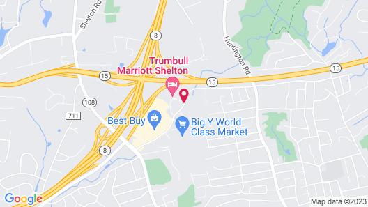 Trumbull Marriott Shelton Map