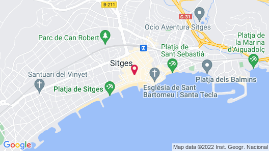 Sitges Group Blue and White  Map