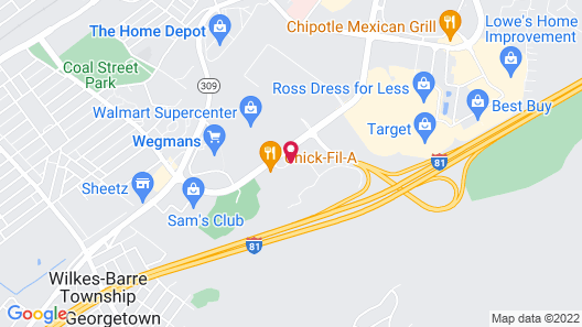 Courtyard by Marriott Wilkes-Barre Arena Map