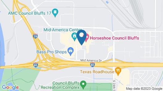 Hilton Garden Inn Omaha East Council Bluffs Map