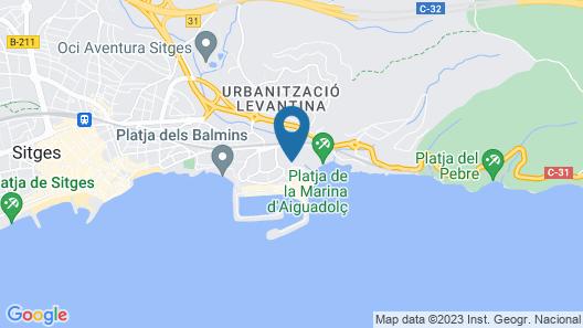 The Beach Studio Daiguadolç Map