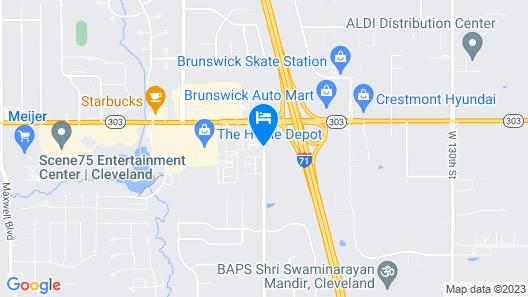 Quality Inn Brunswick Cleveland South Map