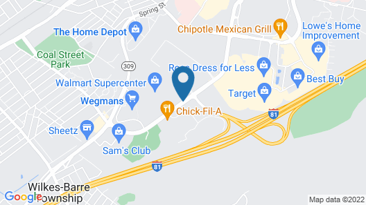 Hilton Garden Inn Wilkes Barre Map