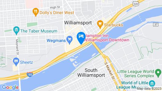 Hampton Inn Williamsport Map