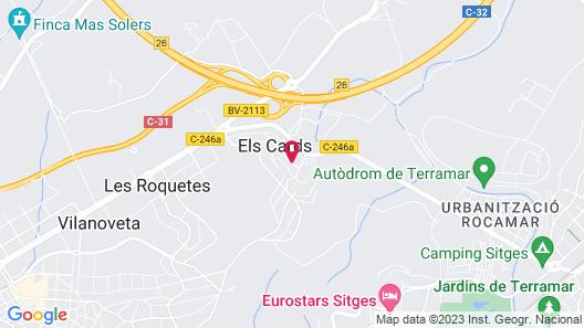 Hotel Desitges Map