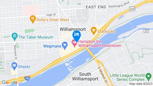 Holiday Inn Express Hotel & Suites Williamsport, an IHG Hotel Map