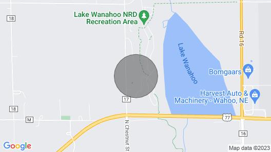 Lake Wanahoo Luxury Cabin! Map