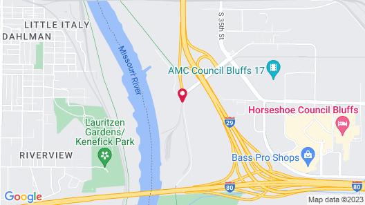 Hampton Inn @ Ameristar Casino Map