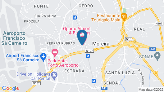 Oporto Airport & Business Hotel Map