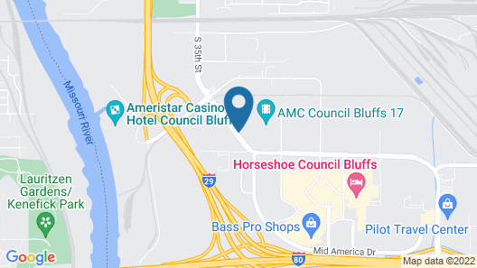 My Place Hotel - Council Bluffs/Omaha East, IA Map