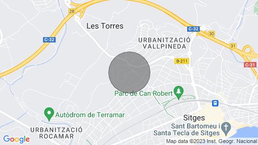 Villas Sitges Lia, XXL swimming pool. 10 min drive from Sitges Map