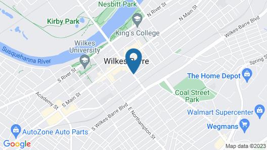 Best Western Plus Wilkes Barre Center City Map