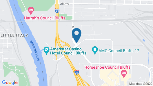 Comfort Suites Omaha East-Council Bluffs Map
