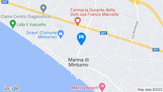 Minturnae Hotel Map