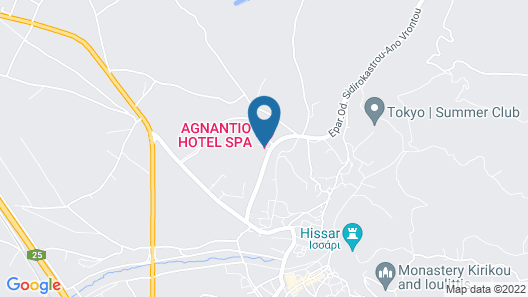 Agnatio Hotel Spa Map